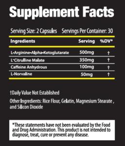 Alphadrox Ingredients